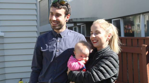 Noa, who is 21 months old, with her father Joshua Matthews and mother Danielle Bolt.