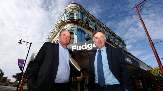 Invercargill Licensing Trust president Alan Dennis, left, and general manager Greg Mulvey outside the site of the ...
