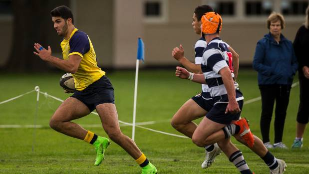 The Scots School's big wing Tom Yassmin scored four tries against Boys' High.