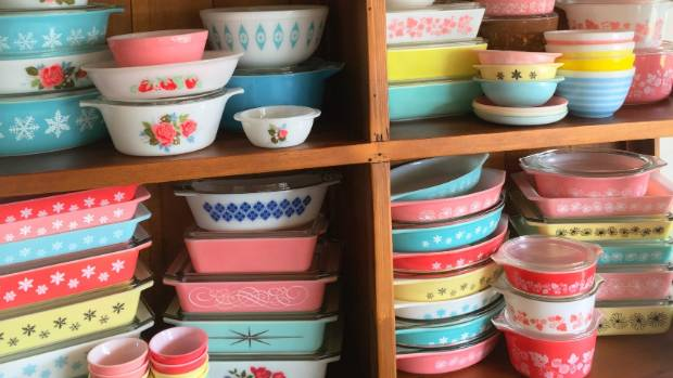 Pyrex collections come in all colours and sizes.