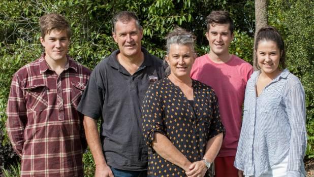 Thomas, 17, left, Lyndon, Millie, Eldon, 20, and Delaney, 18, Matthews.