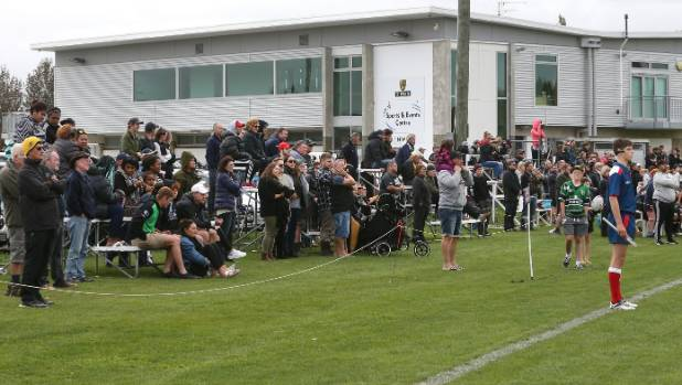 Supporters pack the sidelines at the Renwick Domain during the Renwick v Waitohi division one match on April 8.
