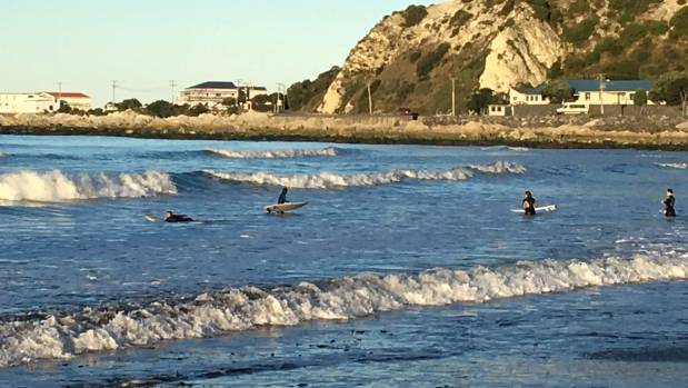 Gooch's Beach has been more popular with surfers since the November 14 earthquake changed the coastline, says Mayor ...