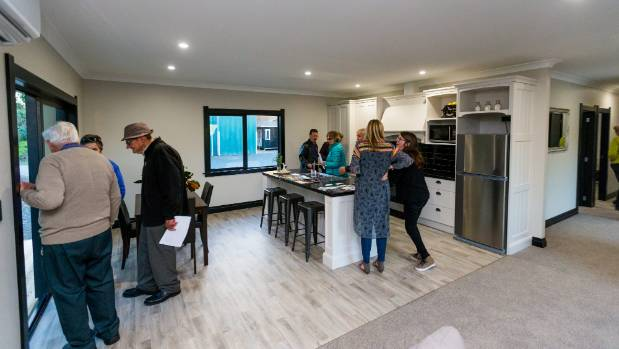 The show home is 136 square foot and is portable.
