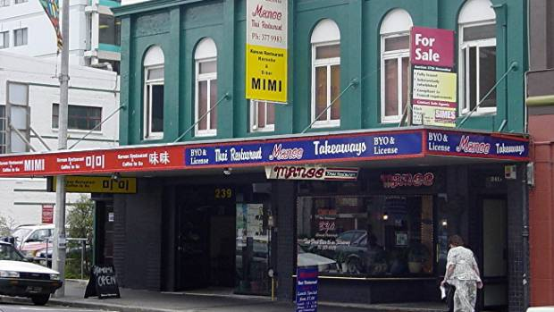 Small shops in Manchester St before the earthquakes.