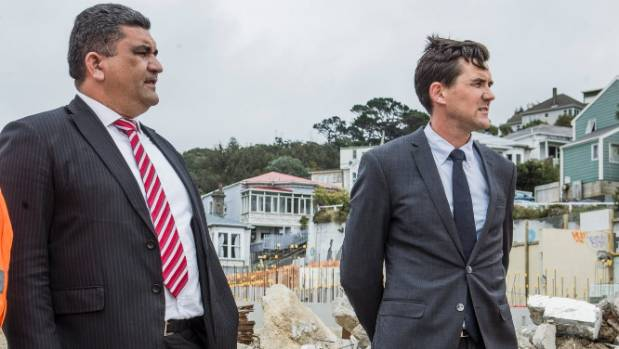 Wellington Mayor Justin Lester and deputy Paul Eagle  said the council would work with building owners to encourage ...