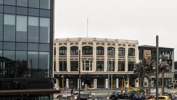 The new Vodafone building, left, and the redeveloped McKenzie and Willis precinct in central Christchurch.