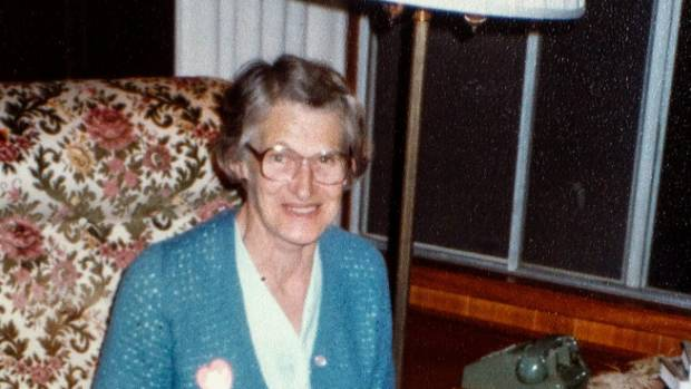 Bertha Zurcher, first secretary of the Longburn Women's Institute, 1970s.