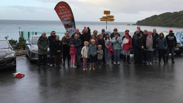 Meet these people at a location near you: EV event travelling from Bluff to Cape Reinga until May 10.