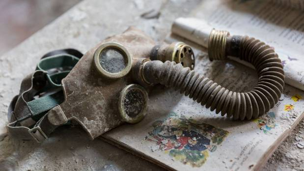 It was small details, such as this gas mask, that Ben found especially captivating.
