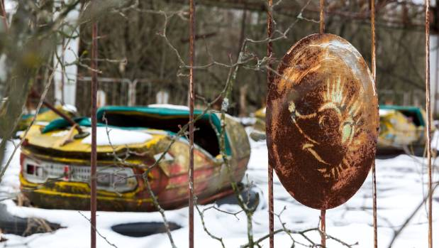 An abandoned fairground in Pripyat.