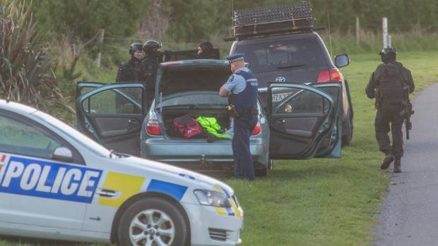 Police apprehended a man at a Pacific Dr property in Rakaia Huts about 8am on Thursday.