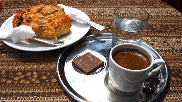 Try Turkish coffee - strong and intense.