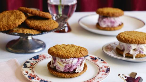 Take the Anzac biscuit to the next level with an truly Kiwi ice cream sandwich.
