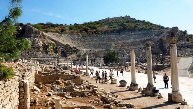The resurrected ancient city of Ephesus.