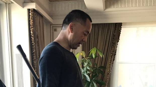 Guo Wengui has posted photos of himself on social media site twitter, working out.