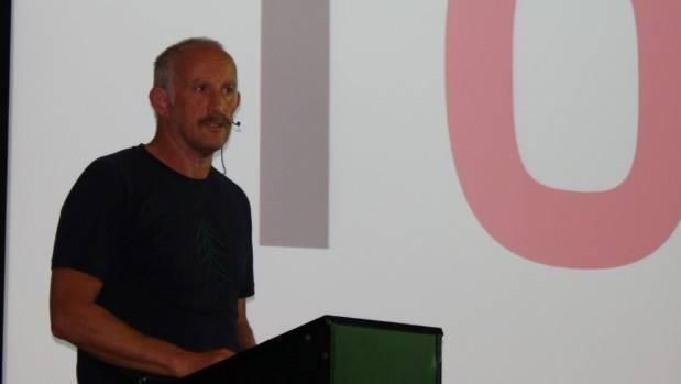 Gareth Morgan spoke in Rotorua on Wednesday night.