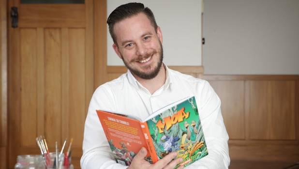 Taranaki comics artist James Davidson hopes New Zealand children will find 'Moa' entertaining and educational.