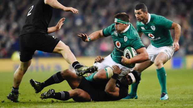 South Africa-born Irishman C J Stander in action against the All Blacks last year.