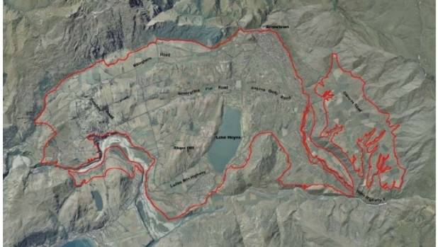 The Wakatipu Basin Land Use Study area is outlined in red.