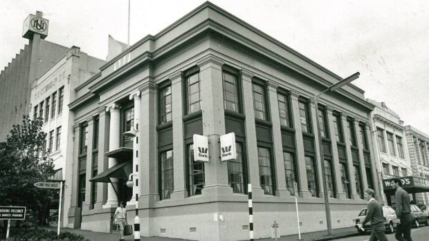 Wales Bank building in New Plymouth built in 1925 and demolished in 1987