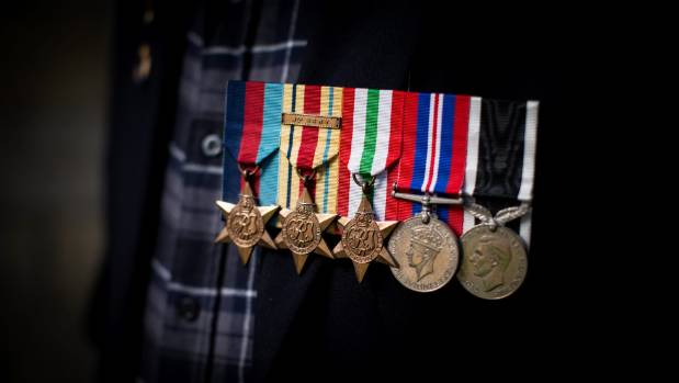 Sergeant Ray Moncur's service medals.