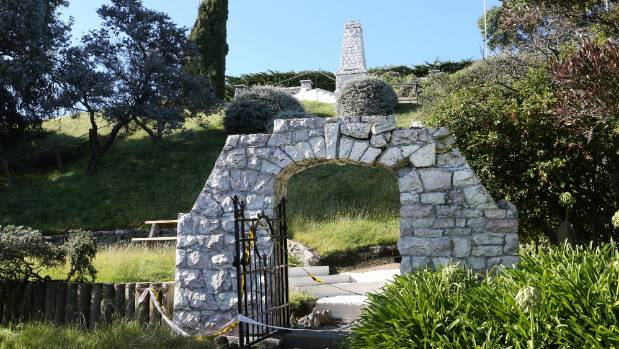 The memorial gate at the Awatere War Memorial, in Seddon, was damaged in the earthquake.