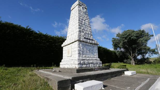 The Awatere War Memorial suffered extensive cracking to its foundations as a result of the earthquake.