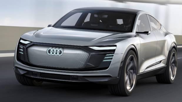 Audi e-tron concept unveiled at the 2017 Shanghai auto show.