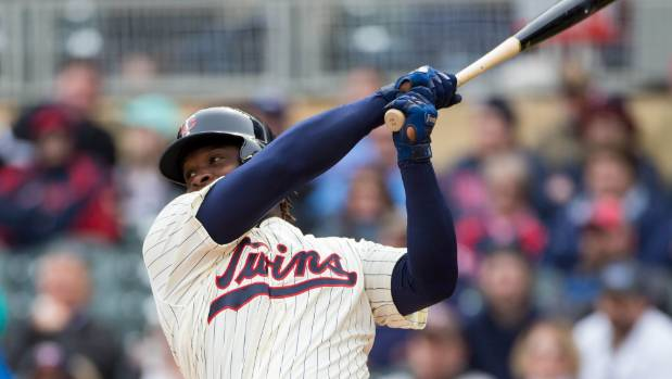 Minnesota Twins third baseman Miguel Sano hit a three-run triple against the Kansas City Royals this year, one of the ...