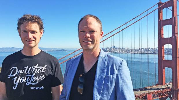 Dropit chief executive Peter Howell, left, with Dropit chief operating officer Brendan Howell, moved to San Francisco ...