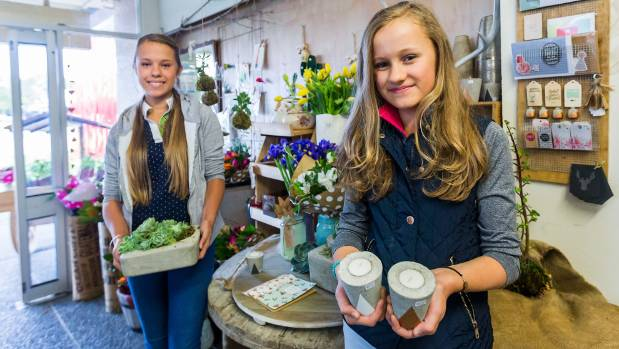 Sisters Ezraela, 14, and Sanya Horvat, 12, run their own arts and crafts business.