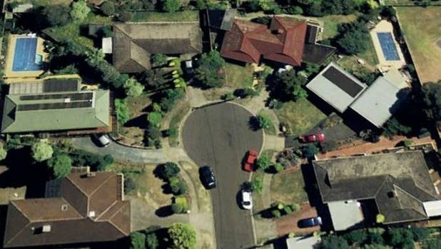 An aerial shot of Ramsay Street.