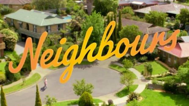 The famous Neighbours logo.