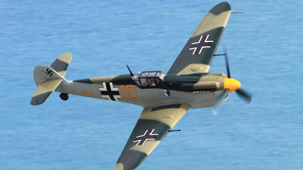Able Seaman Charles Hawes saw a Messerschmitt Bf 109 like this come down near his home in Dorset.