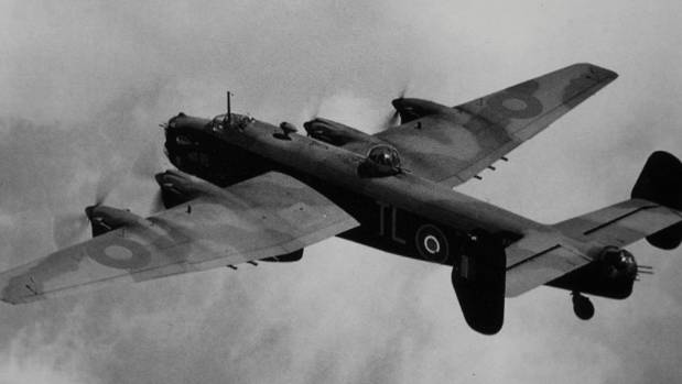 A Halifax bomber from Squadron 35, the same squadron as Arthur Evans.