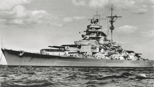 The Germam battleship the Tirpitz was the largest in the world at the time.