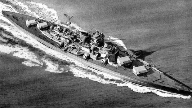 The Tirpitz was the second of two Bismarck-class battleships built for Nazi Germany's Kriegsmarine during World War II.