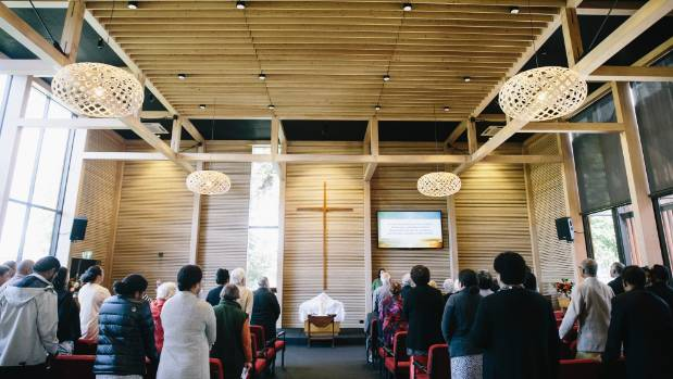 St John's Methodist Church in Hamilton East held their first Easter service in their new church.