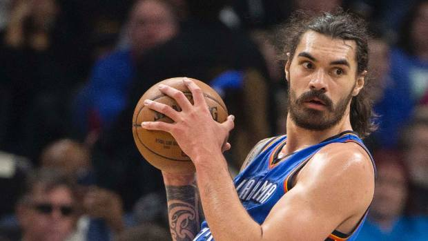 Steven Adams diced with foul trouble throughout the game, eventually picking up his sixth in the final seconds.