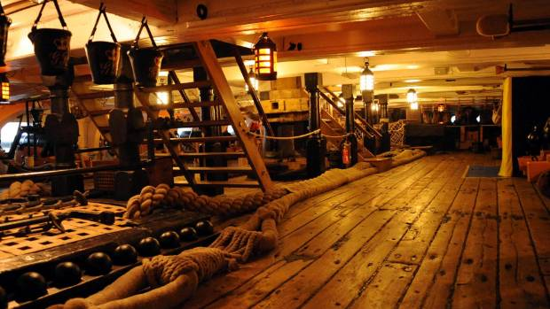 HMS Victory in Portsmouth, UK.