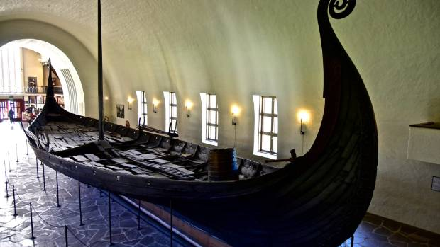 The Oseberg ship is part of the Viking Ship Museum is Oslo, Norway.