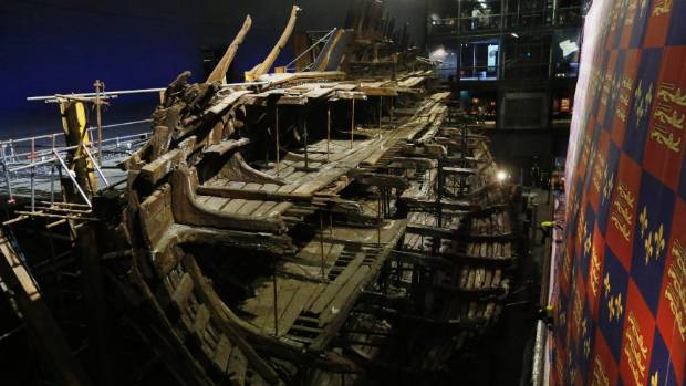 Henry VIII's warship, the Mary Rose after a multi-million dollar museum revamp.