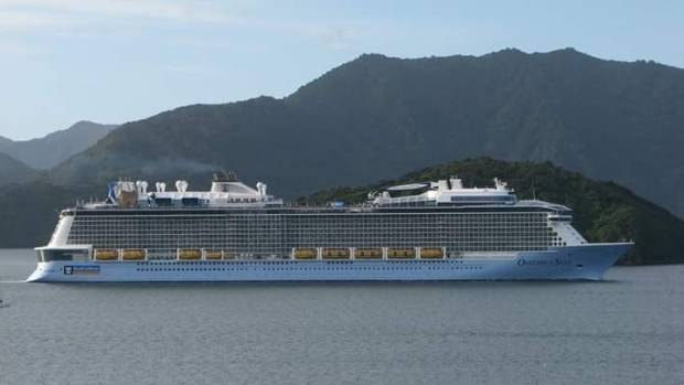 The largest cruise ship to visit New Zealand waters, the Ovation of the Seas, visited Picton three times over the ...