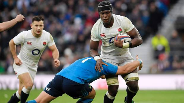 England lock Maro Itoje in action during this year's Six Nations.