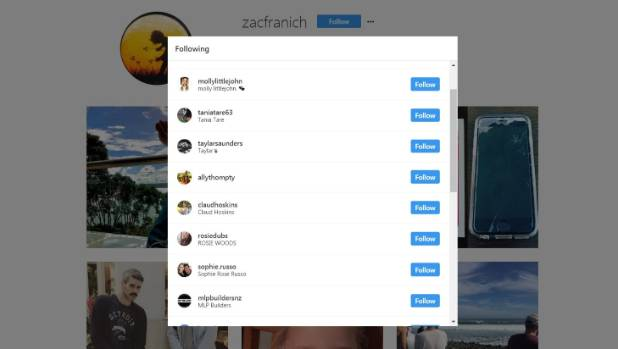 Franich recently followed 11 of his co-stars on Instagram.
