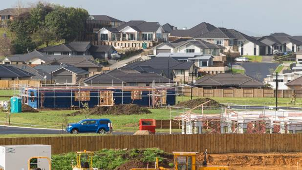 Construction of new houses in Hamilton, where the median section costs $340,980.