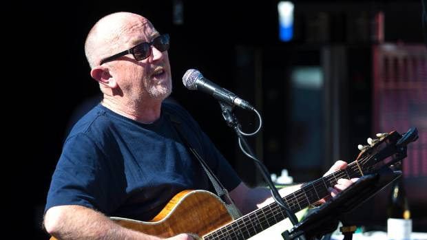 Dave Dobbyn, pictured here in 2016, kept the crowd entertained in Feilding on Thursday night.