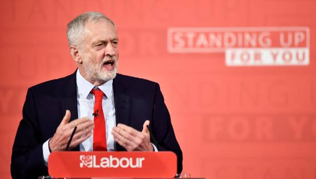"Britain's opposition Labour Party's leader Jeremy Corbyn: ""We don't accept that it is natural for Britain to be governed ..."