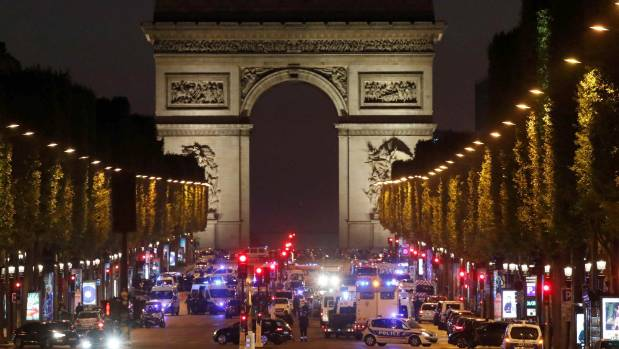 The attack occurred on one of the French capital's - and the world's -  most famous streets.